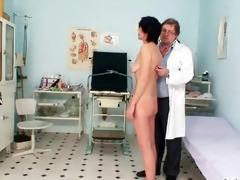 skinny milf weird cunt fingering by gyno doctor