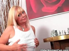 slutty grandma sucks schlong and acquires a mouth