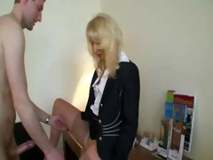 mature blonde whore with younger boy