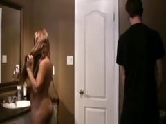 nerd brother fucks step-sister in bathroom