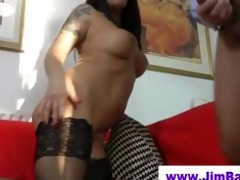 babe in nylons licked by old guy