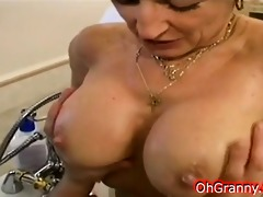 hot bathroom time with granny