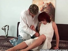 grandma gets a wonderful fuck and a creamy facial