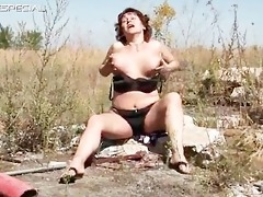 hot mom receives her bushy muf drilled part2