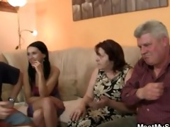 his gf is seduced by old mamma and screwed by old