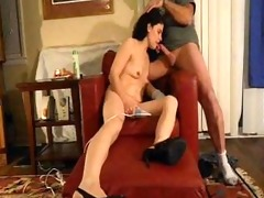 non-professional swinger wife talking dirty while