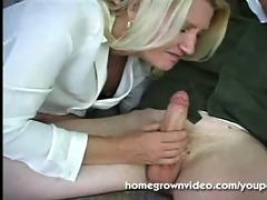 blonde older mama receives banged