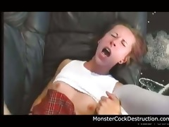 youthful teen daughter brutally screwed