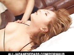 fit japanese cougar bonks in a tiny bikini