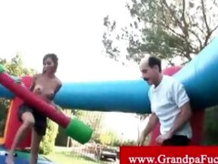 old pervert gets head from teen on play date