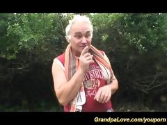 grandpa likes sex in nature