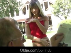 oldman fucks nasty and sexy blond gina gerson