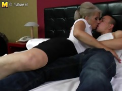bushy grandma hard drilled by young paramour