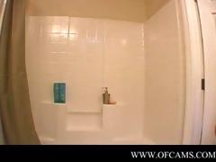 pornlygirl18 closes the bathroom door...