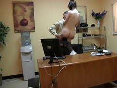 stud fuck the youthful angel in the office
