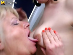 old and young lesbians have a fun each other