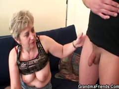 lustful granny takes two cocks at one time