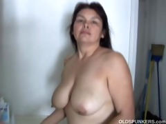 charming older sweetheart has lovely big tits