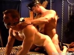 sexy muscle daddy rides his hot muscle bottom