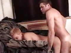 gay daddy bones young twink on bed doggy style