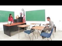 busty older teacher seduce her student
