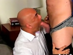 homo clip after a day at the office, brian is