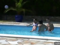 old man joins hot tropical fuck