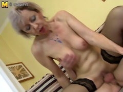 slutty mature mommy drilled by juvenile lad