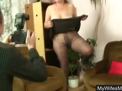 he discharges and fucks his wifes mama