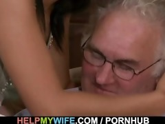 brunette wife is banged by a stranger