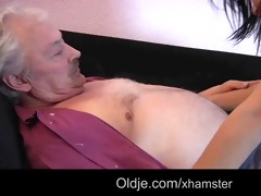 oldman fucks jolly juvenile brunette while