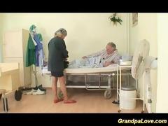 grandpa babe fucking a nice brunette hair nurse