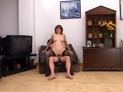 mature brunette hair plowed by younger guy -