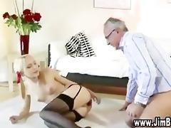 blonde schoolgirl enjoys sex