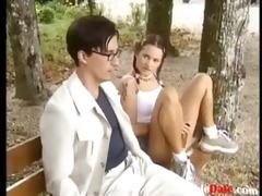 legal age teenager seduce older guy in park