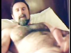 fuckin hot muscular furry dad shoots load