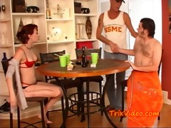 watching her brother suck cock