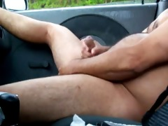 dad in car