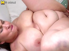 fat old granny fucked hard by young chap