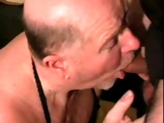 granddad receive nice-looking face hole cumshot