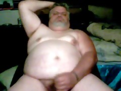 sexually excited chub daddy cums