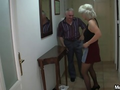 she fucks with his parents when he is left