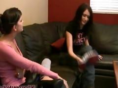 blackmail sister foot worship