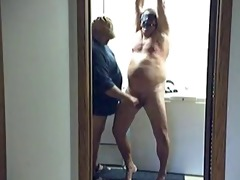 chubby dad receive punished