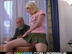 old man pays him to fuck his young wife