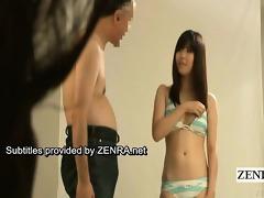 subtitle enf japanese bikini idol disrobes nude