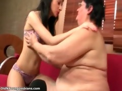 fat mature lesbo gets her moist old