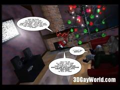 christmas homosexual comic story - 3d anime