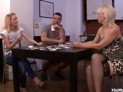 strip poker leads to cum-hole toying