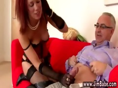 posh redhead in lingerie receives hawt